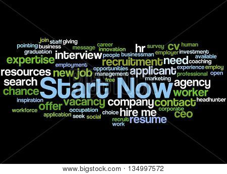 Start Now, Word Cloud Concept 6