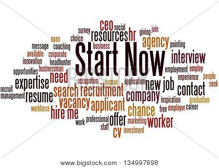 Start Now, Word Cloud Concept 9