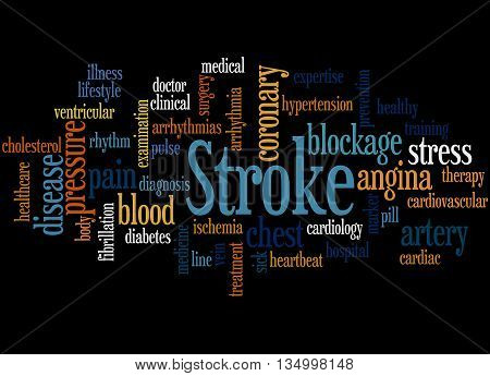 Stroke, Word Cloud Concept 2