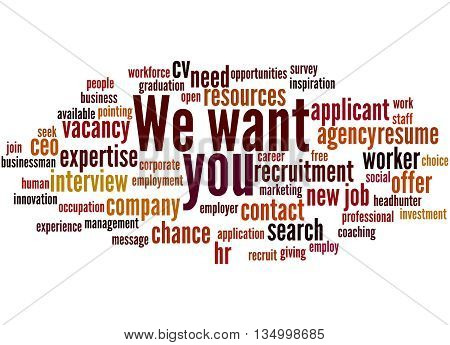 We Want You, Word Cloud Concept 3