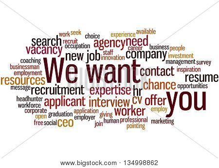 We Want You, Word Cloud Concept 7
