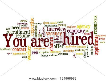 You Are Hired, Word Cloud Concept