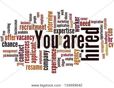 You Are Hired, Word Cloud Concept 9