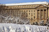 Justice Department After The Snow Constitution Avenue Washington Dc