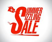Summer sizzling sale advertising design poster