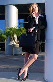 Blond Business Woman Taking A Break