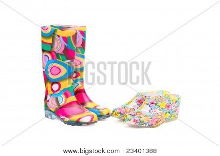 Rubber boots and galoshes