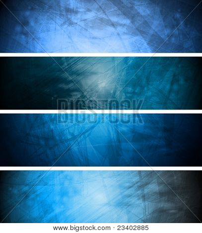 Blue Textural Backgrounds Set
