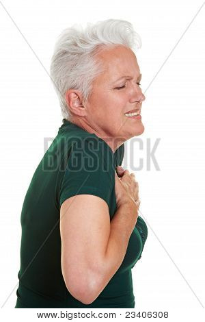 Senior Woman Having Heart Pain