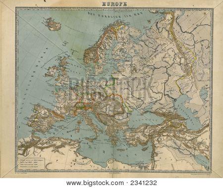 Map Europe 1867