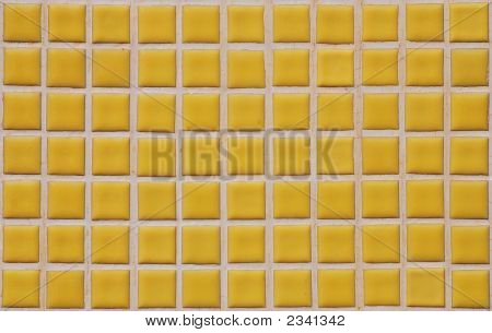 Yellow Tiled Wall Of Marble