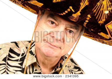 Mature Man In Sombrero