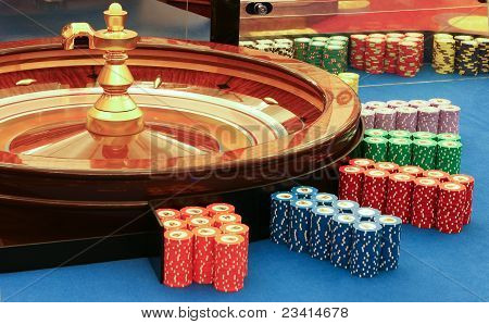 Casino - Spinning Roulette Wheel With Ball