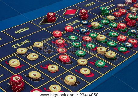 Casino American Roulette Table