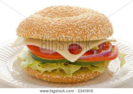Sesame Bagel Sandwich
