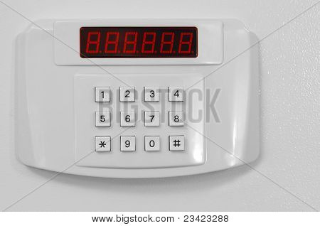 Small keypad closed door