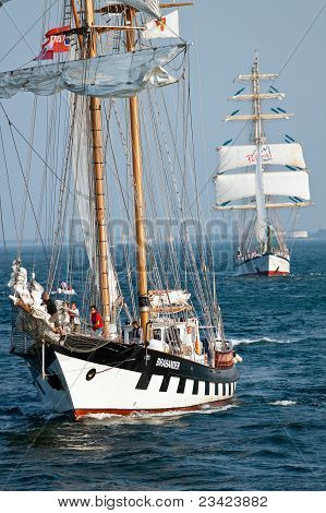 Gdynia - September 05: Sailing Vessel Brabander  During Culture 2011 Tall Ships Regatta,20 Large Ves