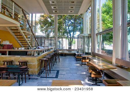 Bar with big windows in Berlin