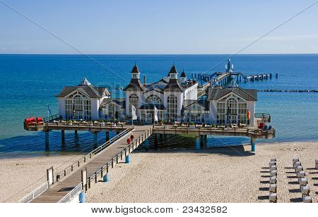 Pier of Sellin at the Baltic Sea