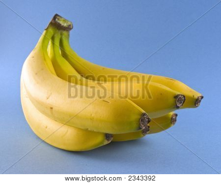 Bananas On Blue