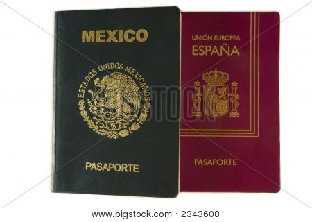 Mexican And Spanish Passport