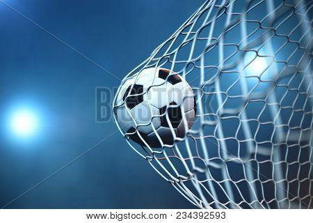 3d Rendering Soccer Ball In