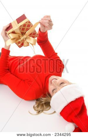 Female Unties A Christmas Present