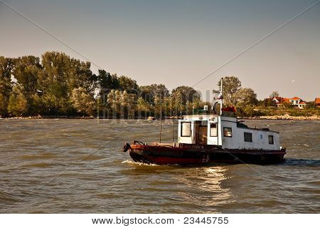 towboat on the river