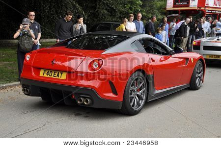 LONDON - SEPTEMBER 04: A Ferrari 599 GTO at Chelsea AutoLegends, on September 04, 2011 in London. Production of the 599 GTO will be limited to 599 cars.