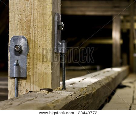 Steel Fixation Of Wood Construction
