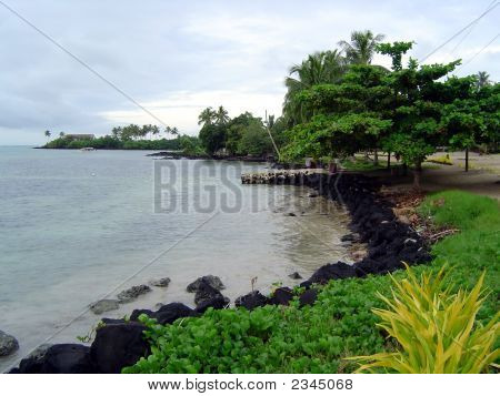 Sea Coast In Samoa