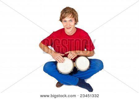 Playing Bongos