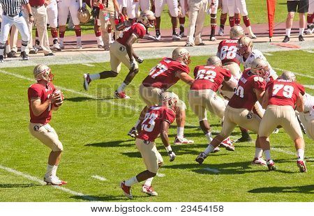 Florida State Seminoles Quarterback In Action