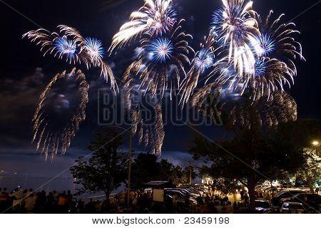 Fireworks Blue Sparks