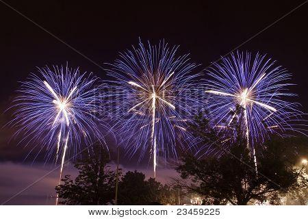 Blue Fireworks triple shot
