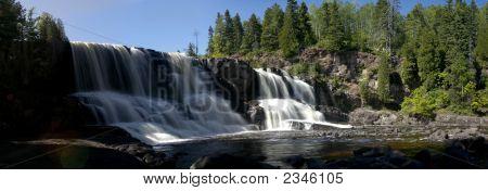 Panorama Of Gooseberry Falls Lower