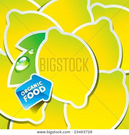 Background From Lemons With An Arrow By Organic Food