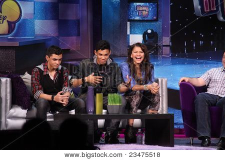 LOS ANGELES - AUG 21:  Adam Irigoyen, Roshon Fegan, Zendaya Coleman at the D23 Expo 2011 at the Anaheim Convention Center on August 21, 2011 in Anaheim, CA