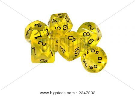 Yellow Role Playing Dice