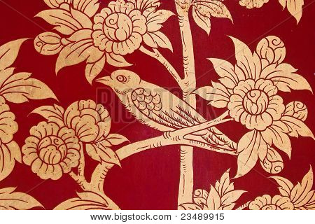 Bird In Traditional Thai Style Painting