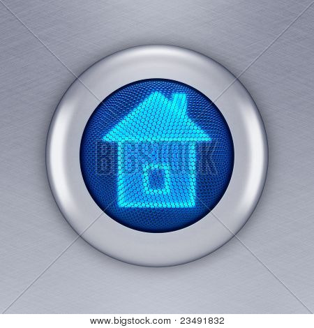 Home button concept (3d render)