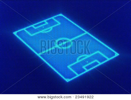 Soccer pitch digital background