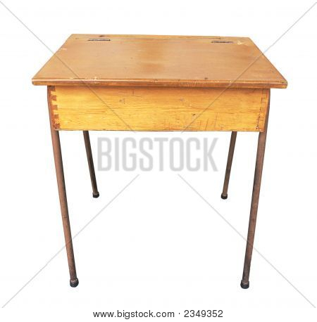 Antique Wooden School Desk