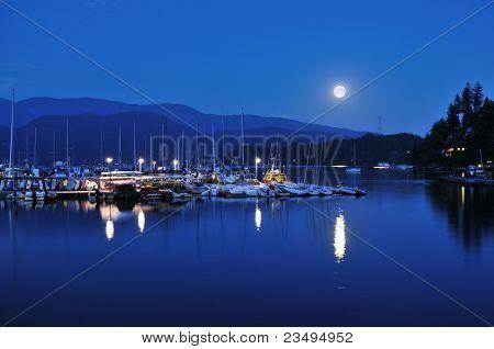 Deep Cove Full Moonrise