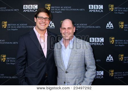LOS ANGELES - SEP 17:  Rich Sommer; Matthew Weiner arrives at the 9th Annual BAFTA Los Angeles TV Tea Party. at L'Ermitage Beverly Hills Hotel on September 17, 2011 in Beverly Hills, CA