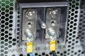 Electric Panel With Cables Electrical Terminal In Junction Box Control Panel With Static Energy poster