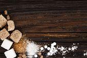 Various Types Of Sugar - Brown Sugar, White Sugar, Crystal Sugar, Artificial Sweetener, Cane Sugar A poster