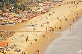 Arambol Beach. View From The Sky, From  Above, Aerophoto, Point Of View. View Of The Beach. Long Bea poster