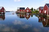 Постер, плакат: рыбацкая деревня бутон Норвегия