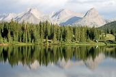 picture of campervan  - Beautifil mountain reflections in Molas Lake Colorado - JPG